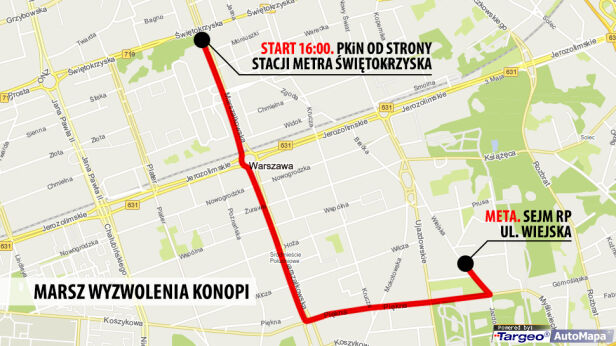 Tędy przejdzie marsz targeo.pl