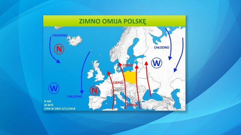 Zimno omija Polskę