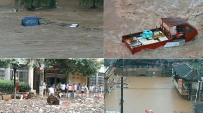 Największa powódź od 17 lat. <br />Zginęły dwie osoby, pięć jest zaginionych
