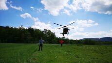 Paralotniarz utknął na drzewie (Grupa Podhalańska GOPR)
