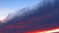 Krwistoczerwony zachód słońca